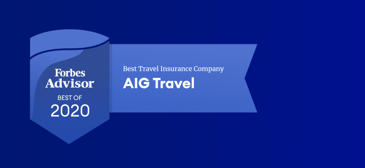 AIG Travel - Best Travel Insurance Company Forbes Advisor badge